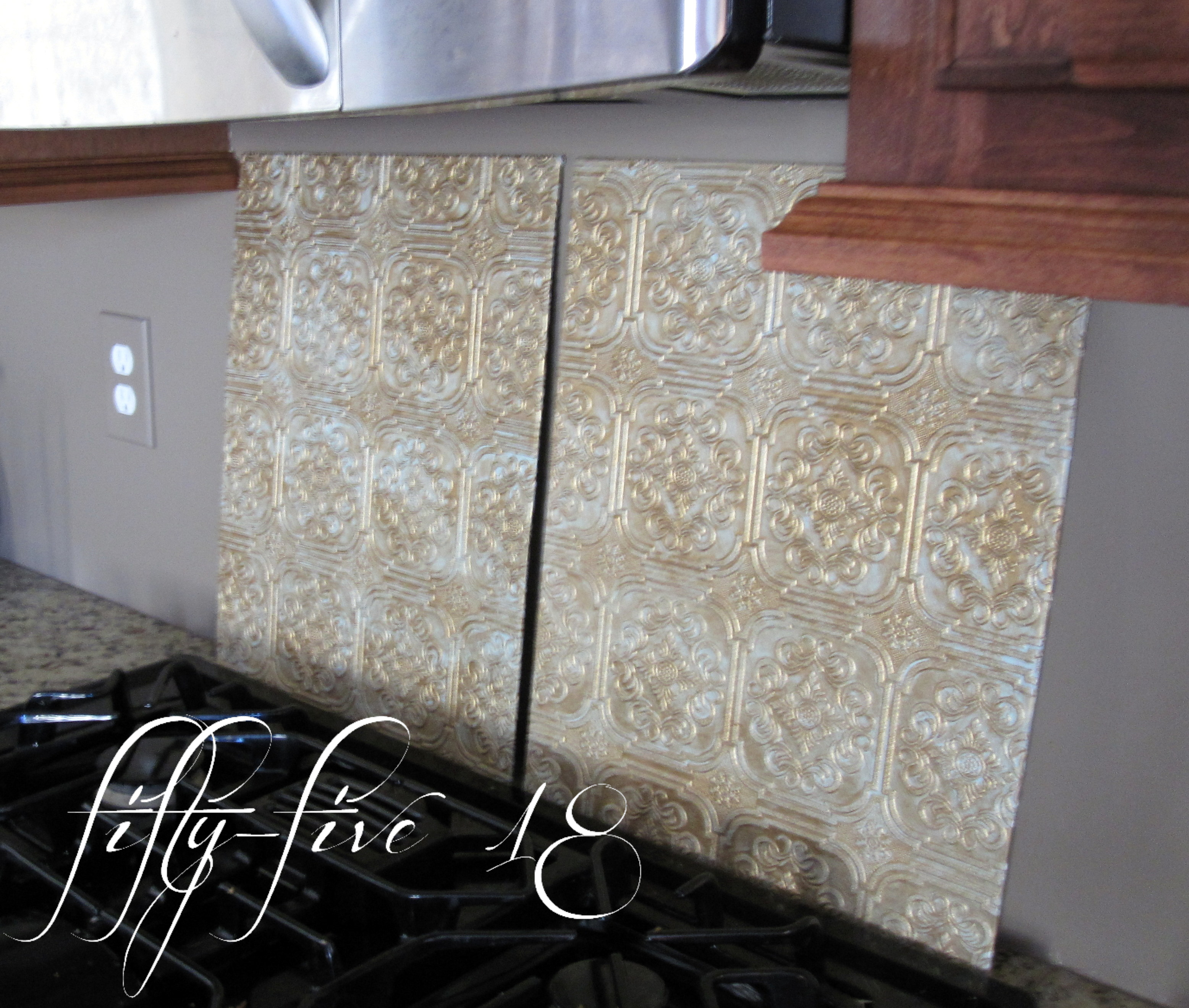 Painting fifty five 18 for Textured wallpaper backsplash