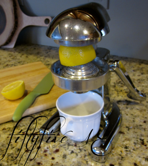 vintage juicer with logo